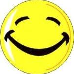 gelukkig lachen